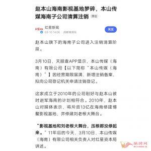 赵本山海南影视基地梦碎,海南子公司清算注销插图